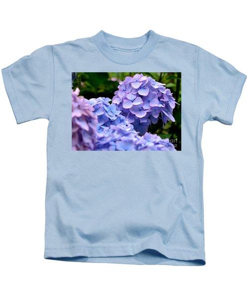 Blue Hydrangea Kids T-Shirt