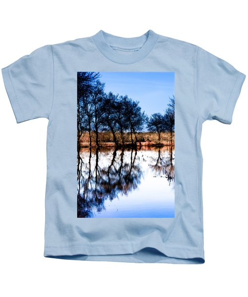 Blue Mirror Kids T-Shirt