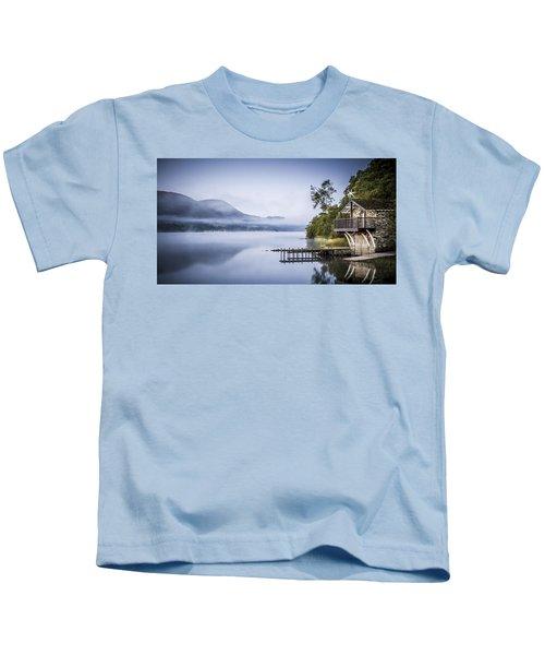 Boathouse At Pooley Bridge Kids T-Shirt