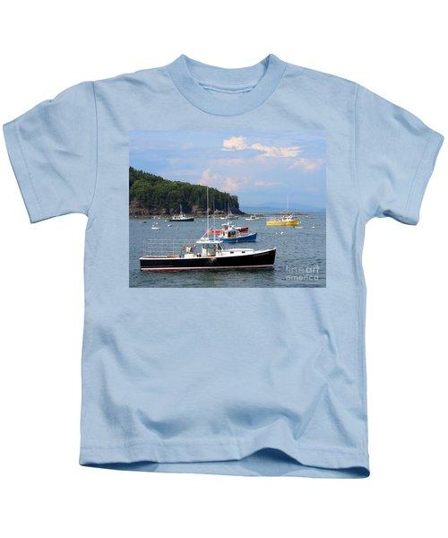 Boats In Bar Harbor Kids T-Shirt