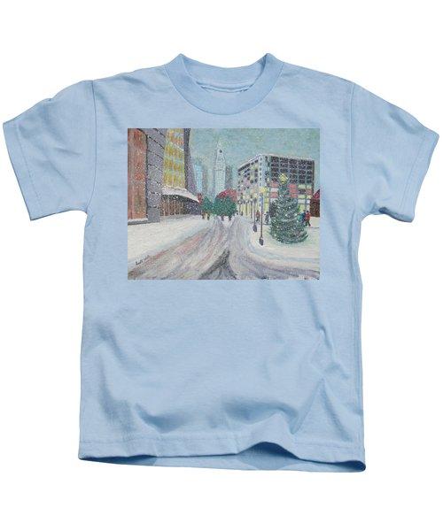 Boston First Snow Kids T-Shirt