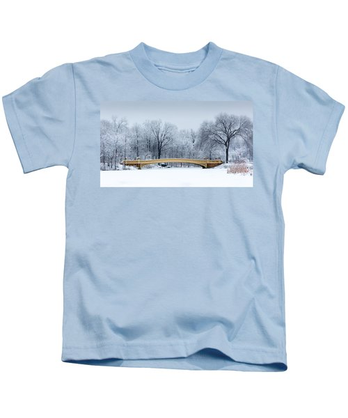 Bow Bridge In Central Park Nyc Kids T-Shirt