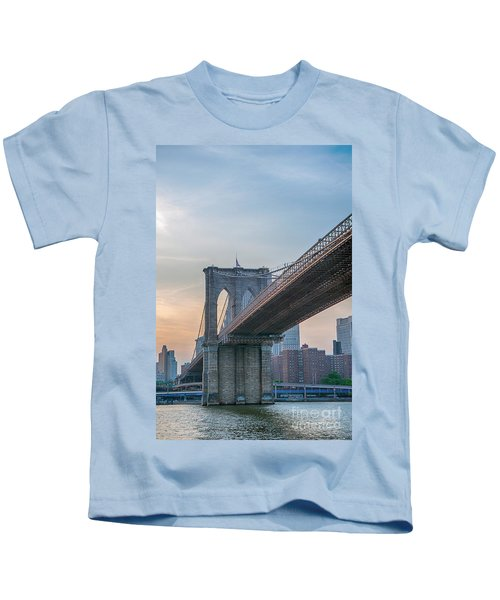 Brooklyn Bridge Sunset Kids T-Shirt