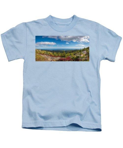Cadillac Mountain Panorama 2 Kids T-Shirt