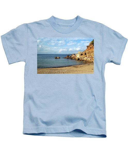 Cala Vedella, Ibiza, Spain Kids T-Shirt