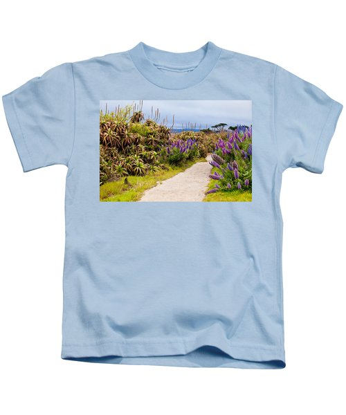 California Coastline Path Kids T-Shirt