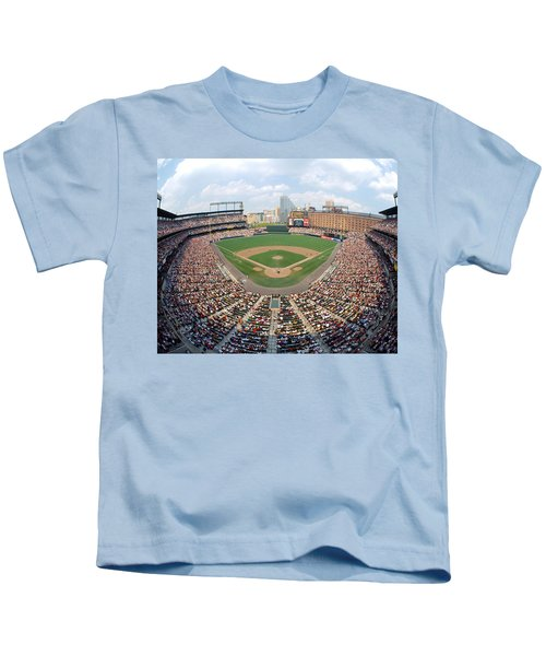 Camden Yards Baltimore Md Kids T-Shirt by Panoramic Images