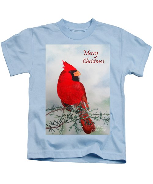 Cardinal Merry Christmas Kids T-Shirt