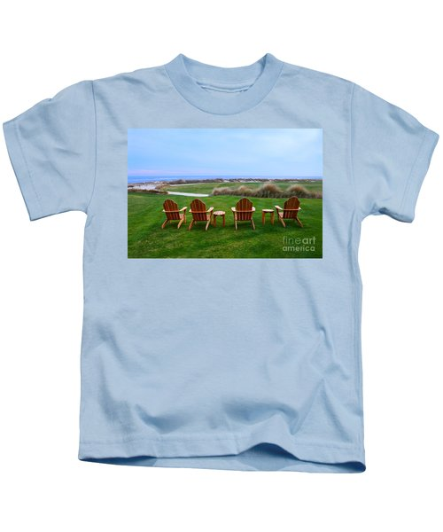 Chairs At The Eighteenth Hole Kids T-Shirt