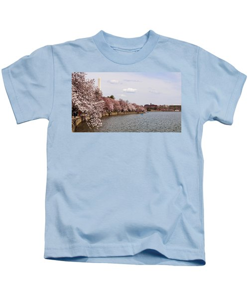 Cherry Blossom Trees In The Tidal Basin Kids T-Shirt