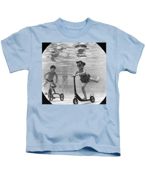 Children Playing Under Water Kids T-Shirt