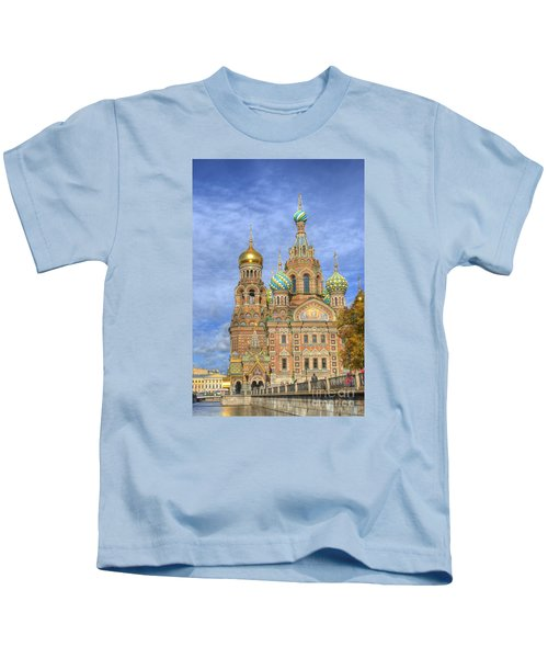 Church Of The Saviour On Spilled Blood. St. Petersburg. Russia Kids T-Shirt