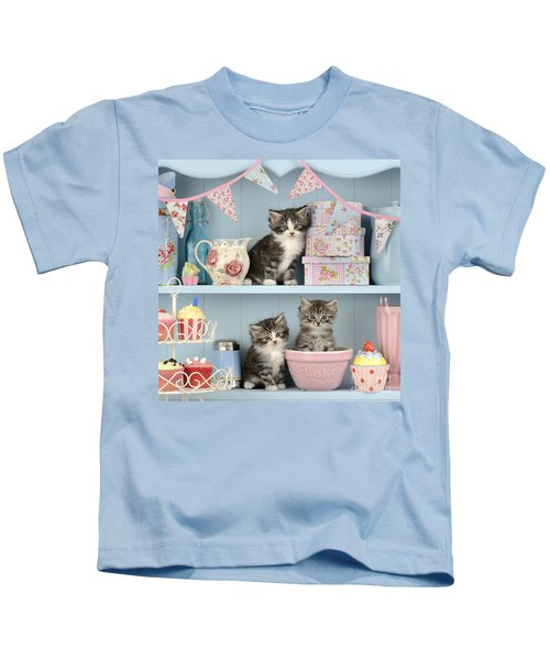 Baking Shelf Kittens Kids T-Shirt