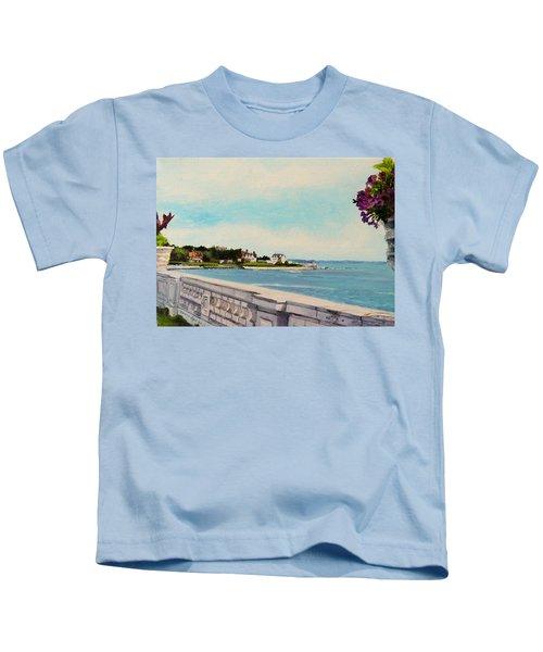 40 Steps Cliff Walk Newport Ri Kids T-Shirt