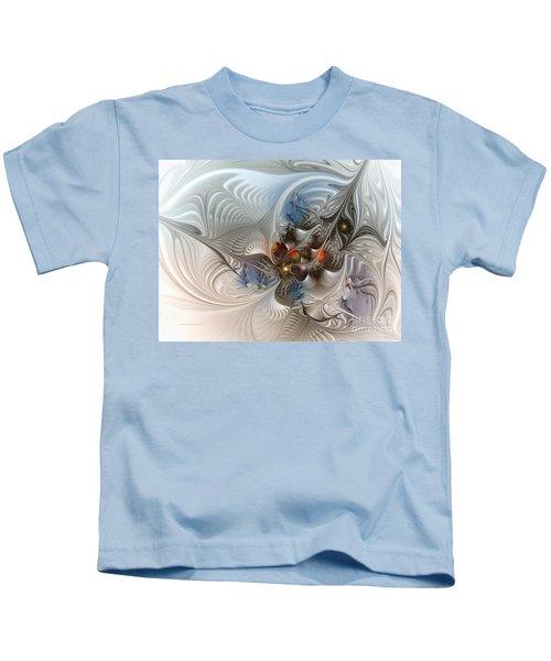 Cloud Cuckoo Land-fractal Art Kids T-Shirt by Karin Kuhlmann