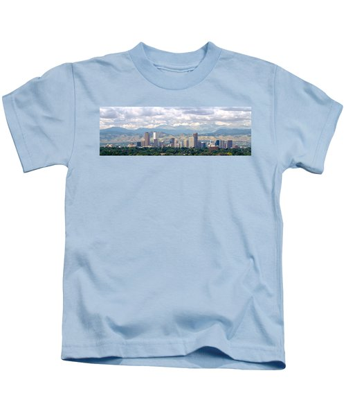 Clouds Over Skyline And Mountains Kids T-Shirt