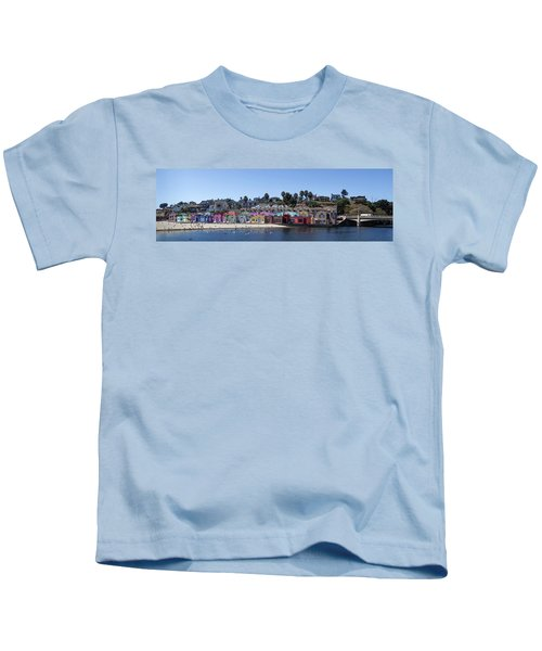 Colorful Buildings And Beach Kids T-Shirt