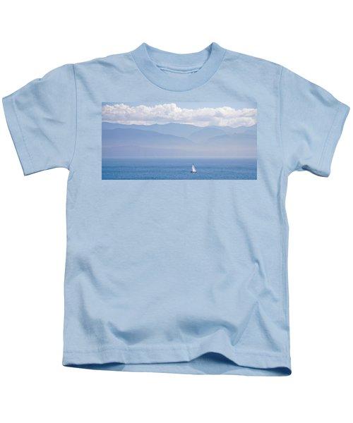 Colors Of Alaska - Sailboat And Blue Kids T-Shirt