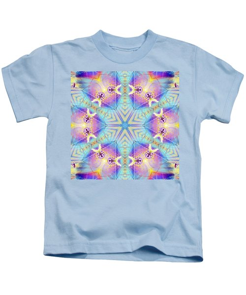 Cosmic Spiral Kaleidoscope 17 Kids T-Shirt