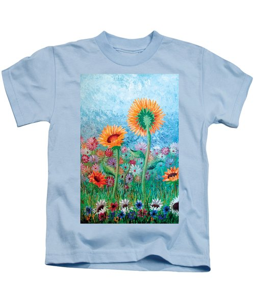 Courting Sunflowers Kids T-Shirt