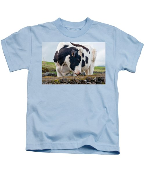 Cow With Head Turned Kids T-Shirt