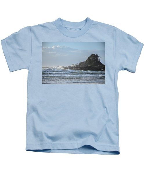 Cox Bay Afternoon Waves Kids T-Shirt