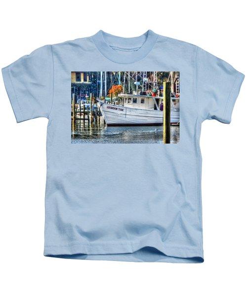 Crimson Tide In Harbor Kids T-Shirt