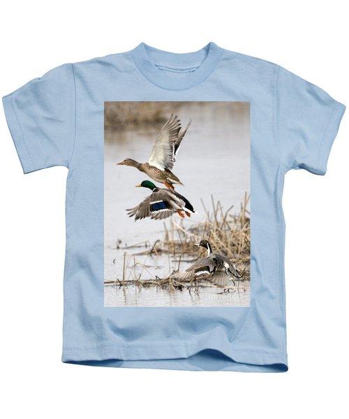 Crowded Flight Pattern Kids T-Shirt