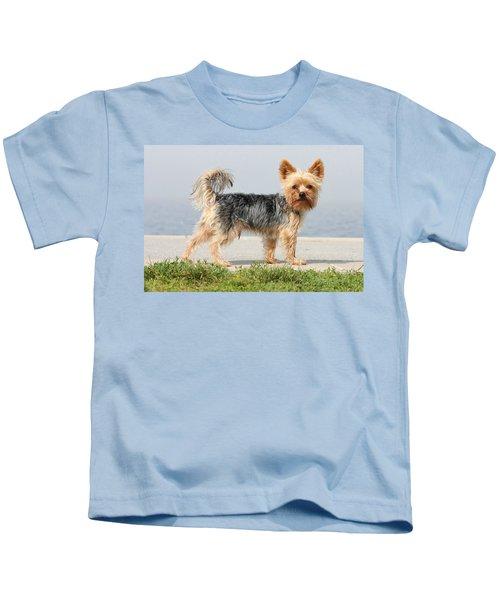Cut Little Dog In The Sun Kids T-Shirt