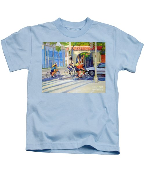 Cycling Past The Archway Kids T-Shirt