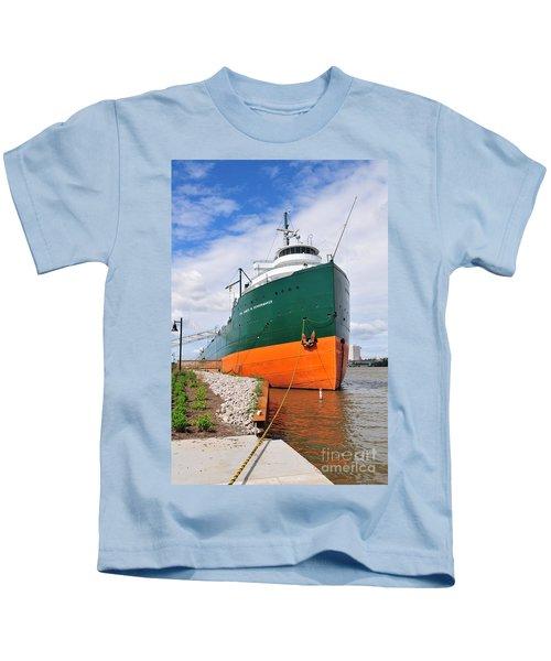 D12u763 Ss Col James M Schoonmaker Kids T-Shirt