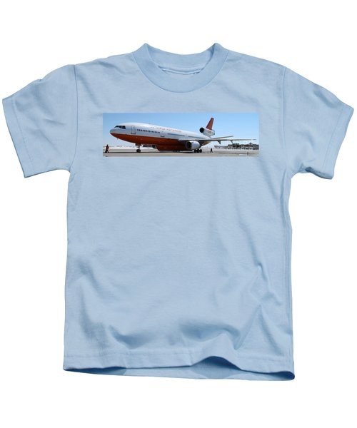 Dc-10 Air Tanker At Rapid City Kids T-Shirt