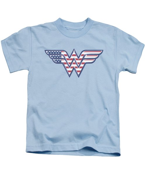 Dc - Red,white And Blue Kids T-Shirt