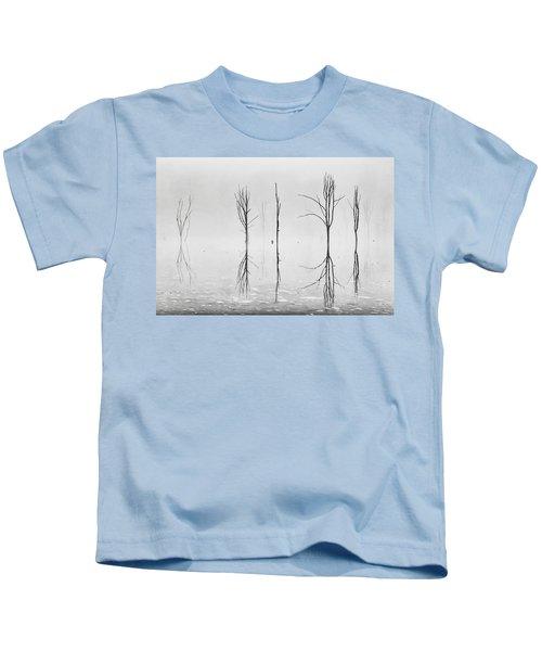 Dead Forest Reflections Kids T-Shirt