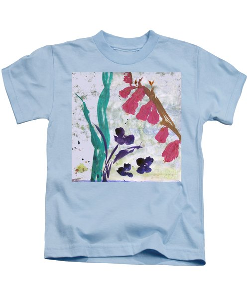 Dreamy Day Flowers Kids T-Shirt