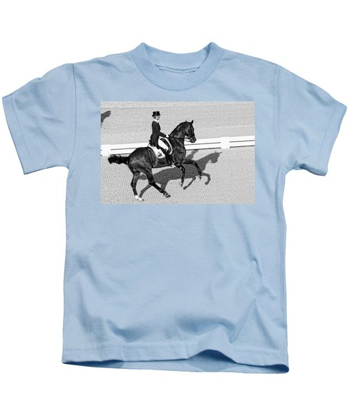Dressage Une Noir Kids T-Shirt