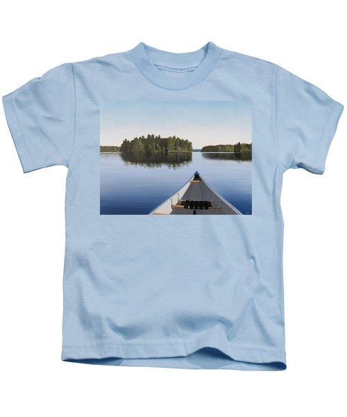 Early Evening Paddle Aka Paddle Muskoka Kids T-Shirt