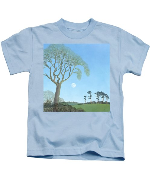Early Moon, 2007 Oil On Canvas Kids T-Shirt