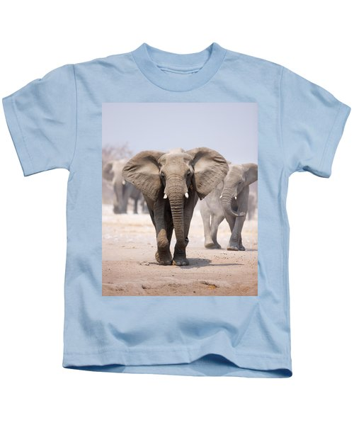 Elephant Bathing Kids T-Shirt