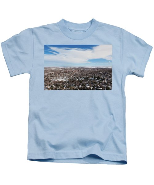 Elevated City View From Flagstaff Kids T-Shirt
