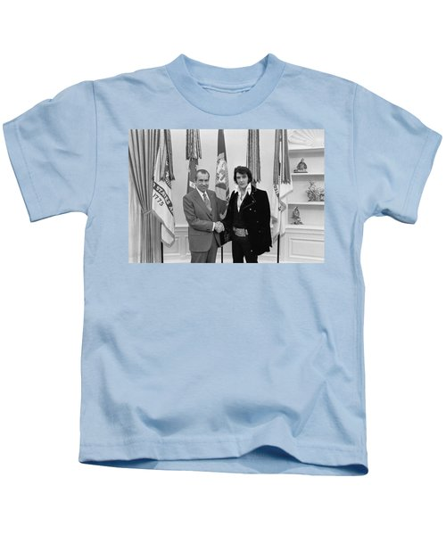 Elvis And The President Kids T-Shirt