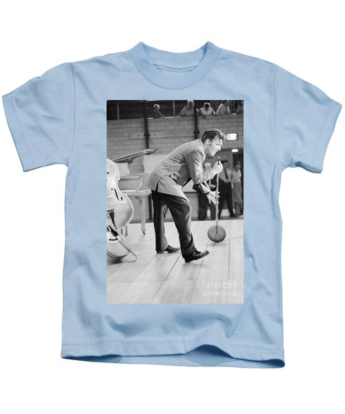 Elvis Presley Singing On Stage In Dayton In 1956 Kids T-Shirt