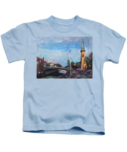 Erie Canal In Lockport Kids T-Shirt