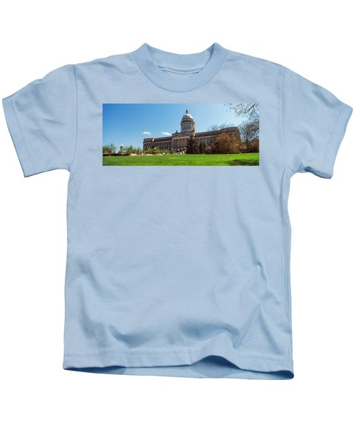 Facade Of State Capitol Building Kids T-Shirt by Panoramic Images
