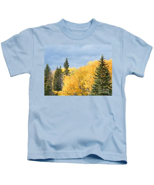 Fall Near Ya Ha Tinda Kids T-Shirt