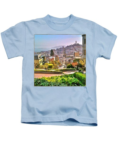 Favorite Places Lombard Street San Francisco California Kids T-Shirt