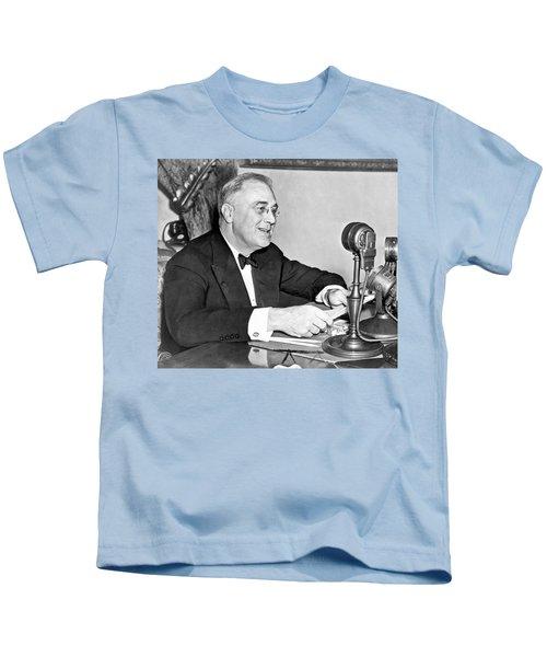 Fd Roosevelt Fireside Chat Kids T-Shirt