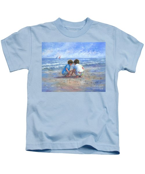 Finding Sea Shells Brother And Sister Kids T-Shirt
