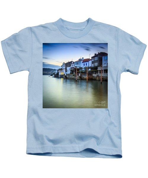 Fishing Town Of Redes Galicia Spain Kids T-Shirt