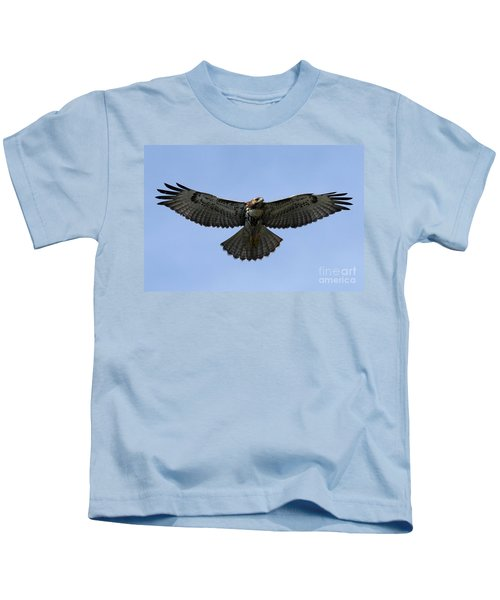 Flying Free - Red-tailed Hawk Kids T-Shirt